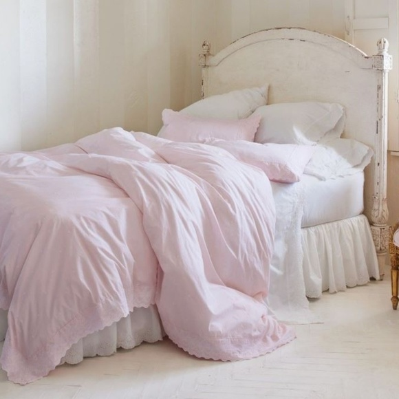 Simply Shabby Chic Bedding Pink Ethereal Embroidered Duvet